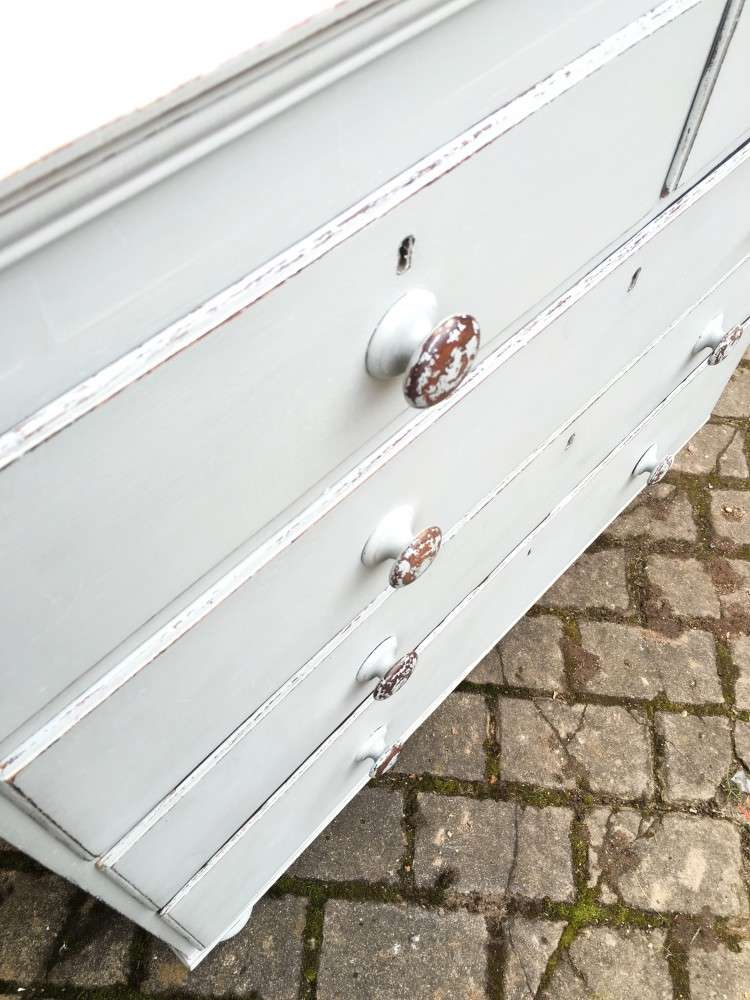 Victorian Painted Oak & Pine Chest4