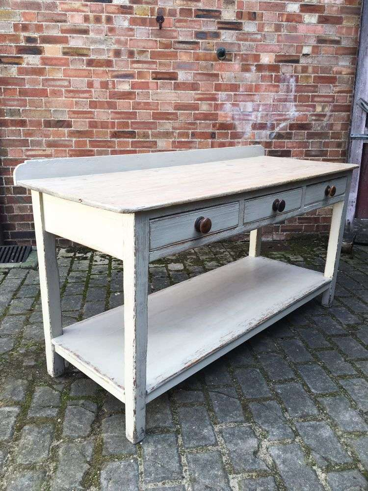 Early 19th Century Painted Pine Serving Table1