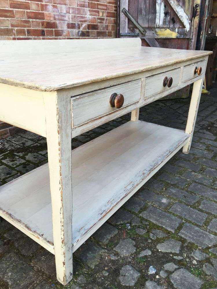 Early 19th Century Painted Pine Serving Table4