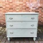 Early Victorian Painted Mahogany 3 Drawer Chest SOLD- Ref:1131
