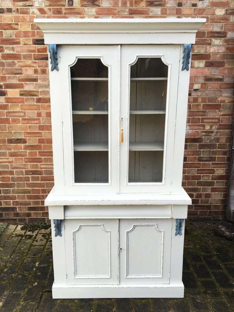 Mid Victorian Painted Mahogany Cupboard Bookcase SOLD – Ref:1133
