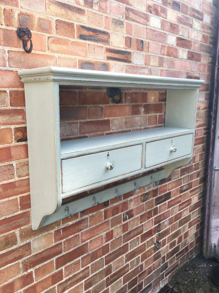 Victorian Painted Pine Kitchen Shelves1