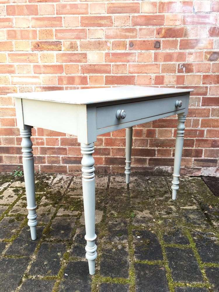 Late 19th Century Painted Pine Cottage Side Table1