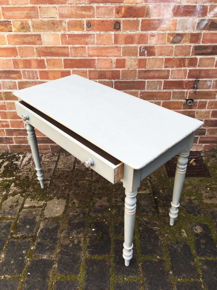Late 19th Century Painted Pine Cottage Side Table2