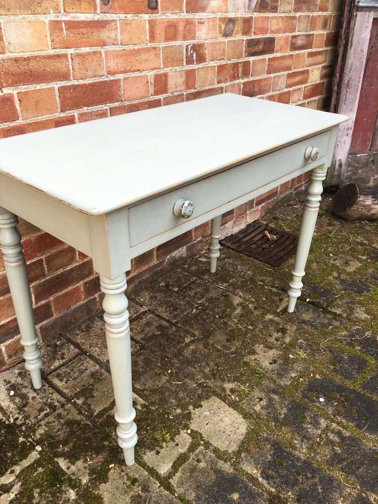 Late 19th Century Painted Pine Cottage Side Table3