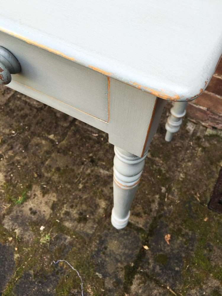 Late 19th Century Painted Pine Cottage Side Table4