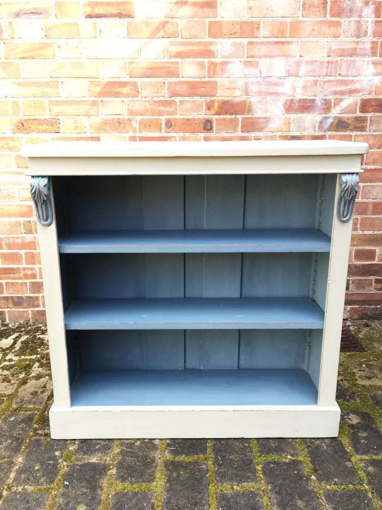 Mid Victorian Painted Walnut Open Bookcase SOLD- Ref:1137