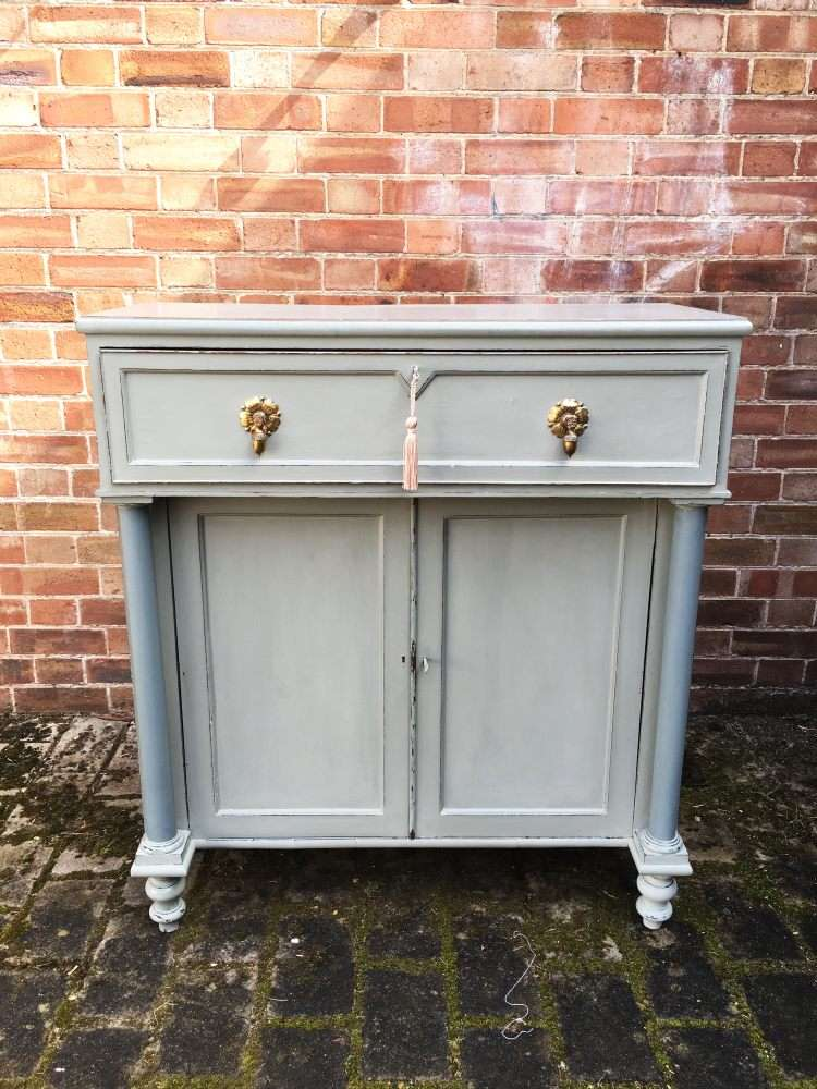 Regency Painted Mahogany Secretaire Cabinet SOLD- Ref:1136