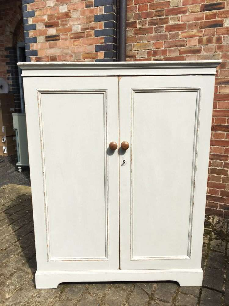 Victorian Painted Pine Cottage Child's Wardrobe