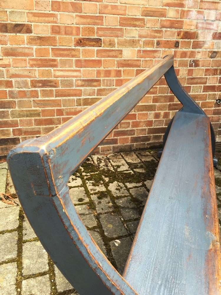 Late Victorian Painted Pine Bench Pew3