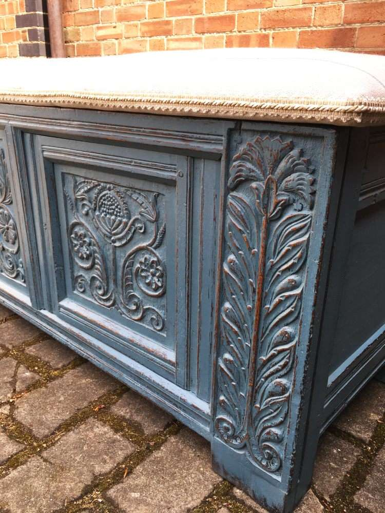 Late 17th Century Painted Oak Coffer1