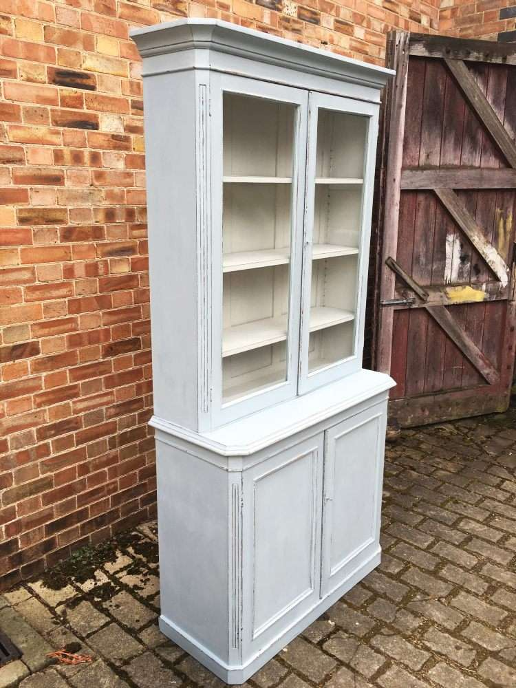 Mid Victorian Painted Mahogany Dresser/Bookcase1