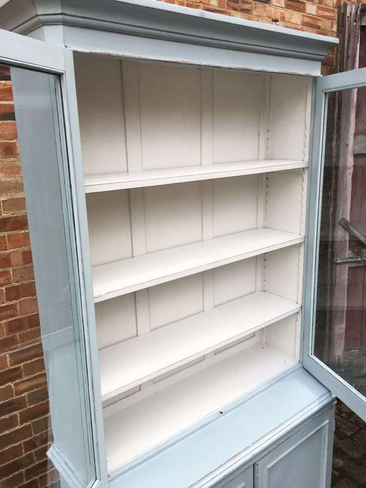 Mid Victorian Painted Mahogany Dresser/Bookcase3