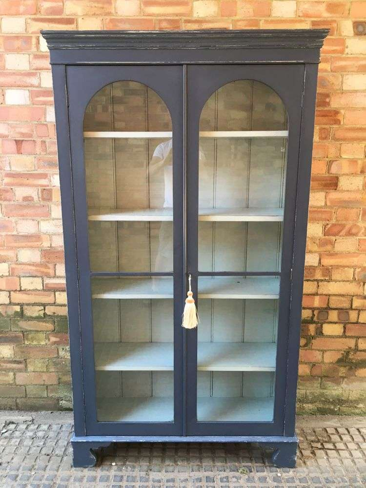 Victorian Painted Mahogany Glazed Cupboard SOLD- Ref:1151