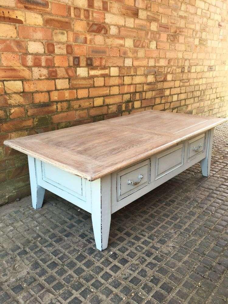 Painted Oak Coffee Table1