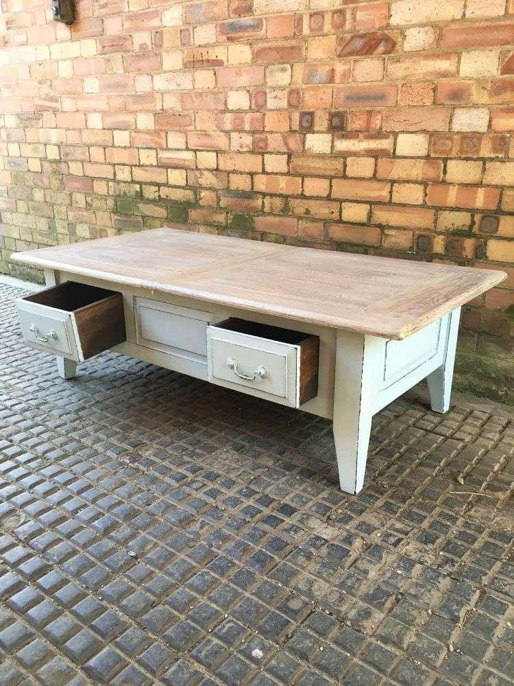 Painted Oak Coffee Table2