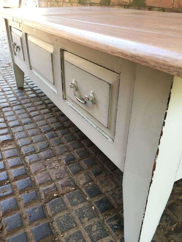 Painted Oak Coffee Table4