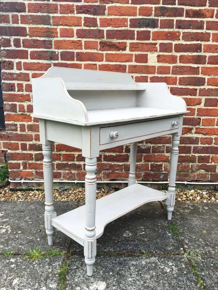 Victorian Painted Pine Washstand1