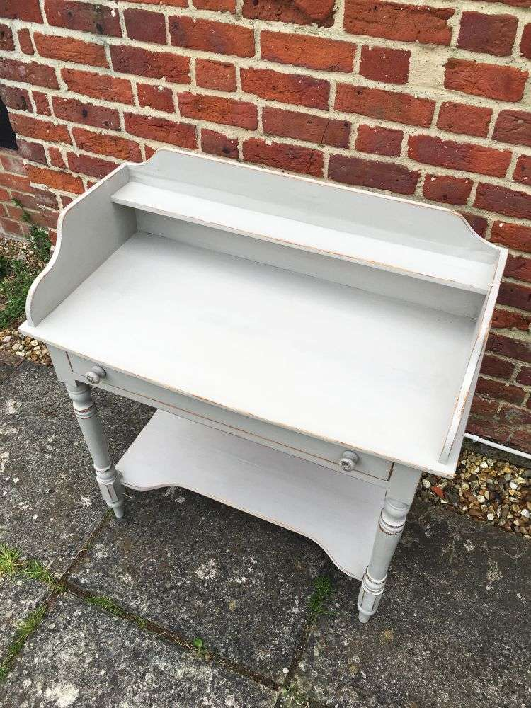 Victorian Painted Pine Washstand3