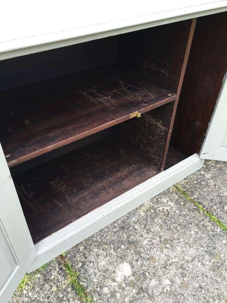 Edwardian Painted Walnut Cupboard4