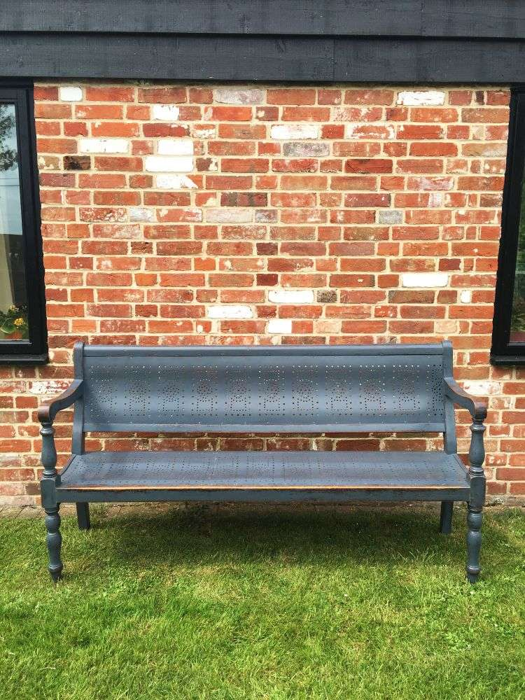 Edwardian Painted Birch Pub Bench SOLD- Ref:1152