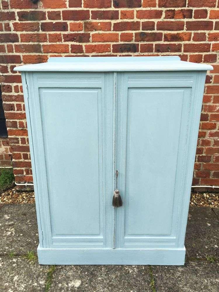 Edwardian Painted Pine Linen Cupboard SOLD- Ref:1154