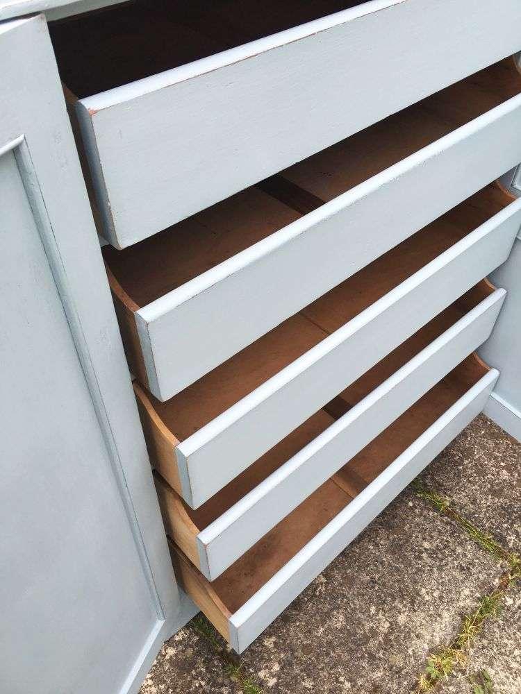 Edwardian Painted Pine Linen Cupboard5