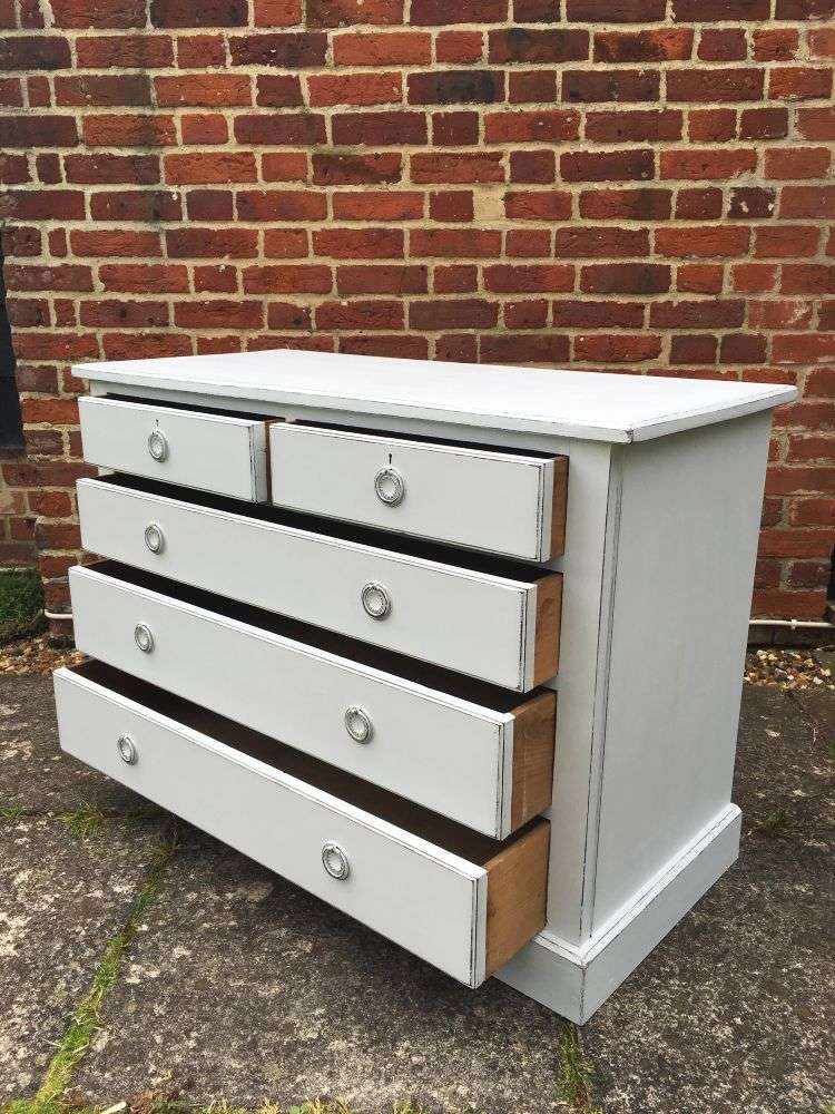 Edwardian Painted Mahogany Chest Of Drawers SOLD – Ref:1155