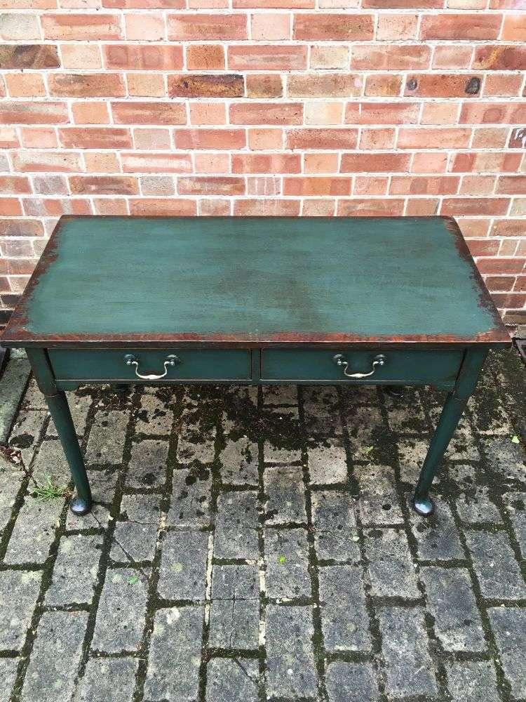 Georgian III Painted Oak Club Foot Table3