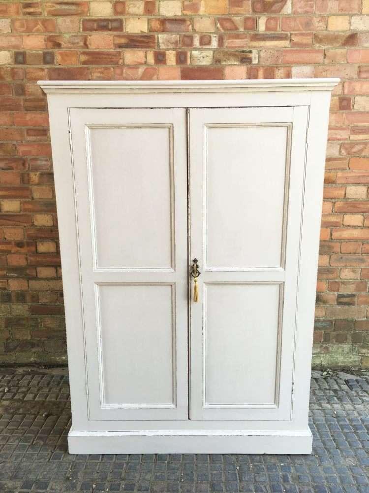 Edwardian Painted Pine Linen Cupboard SOLD- Ref:1159