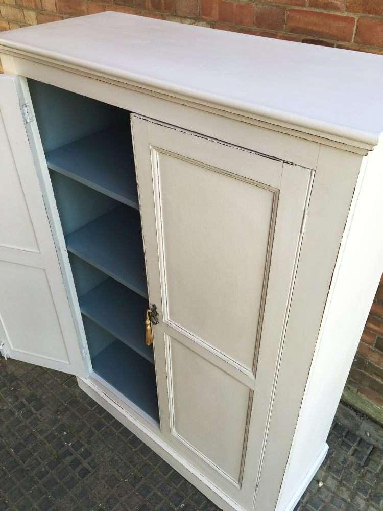 Edwardian Painted Pine Linen Cupboard4