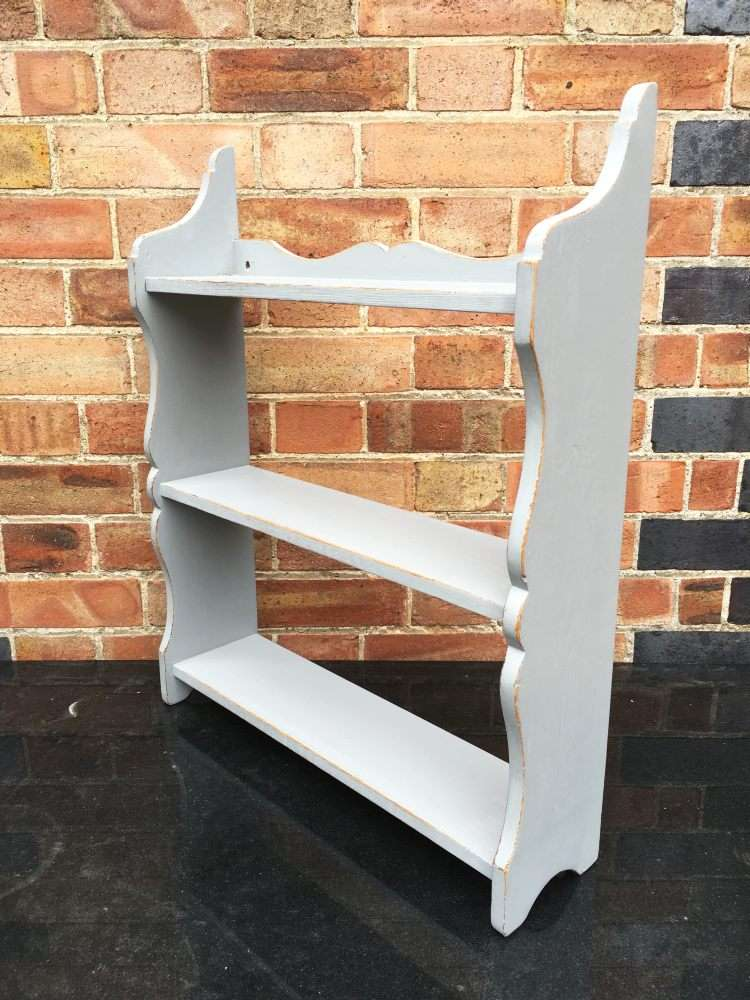 Victorian Painted Pine Small Hanging Shelves2