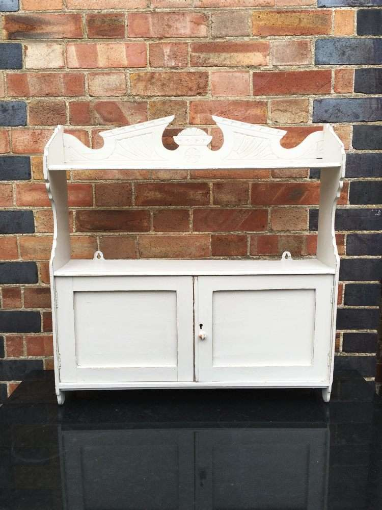Edwardian Painted Pine Hanging Cabinet Sold Ref 1170 Old Painted Furniture