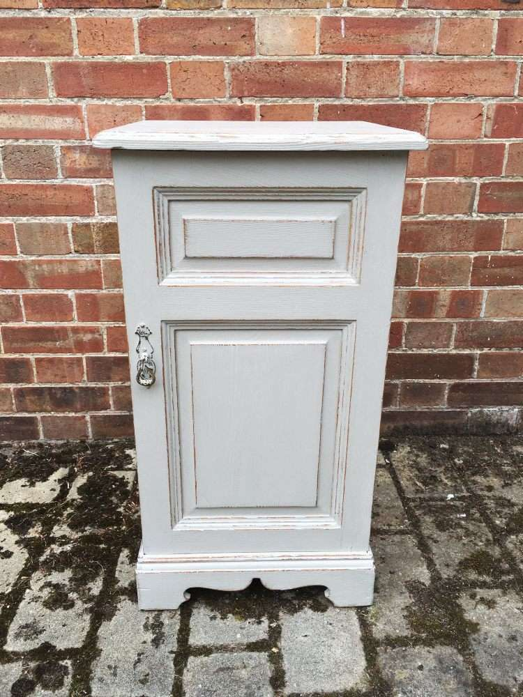 Victorian Painted Ash Bedside Cupboard SOLD- Ref:1171