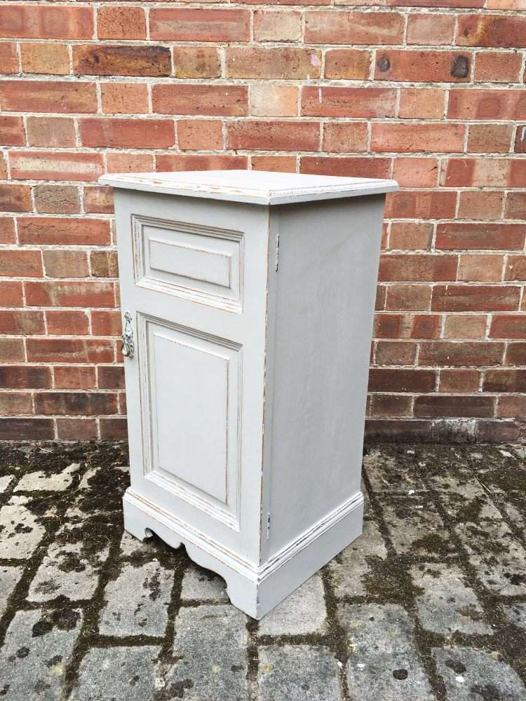 Victorian Painted Ash Bedside Cupboard1