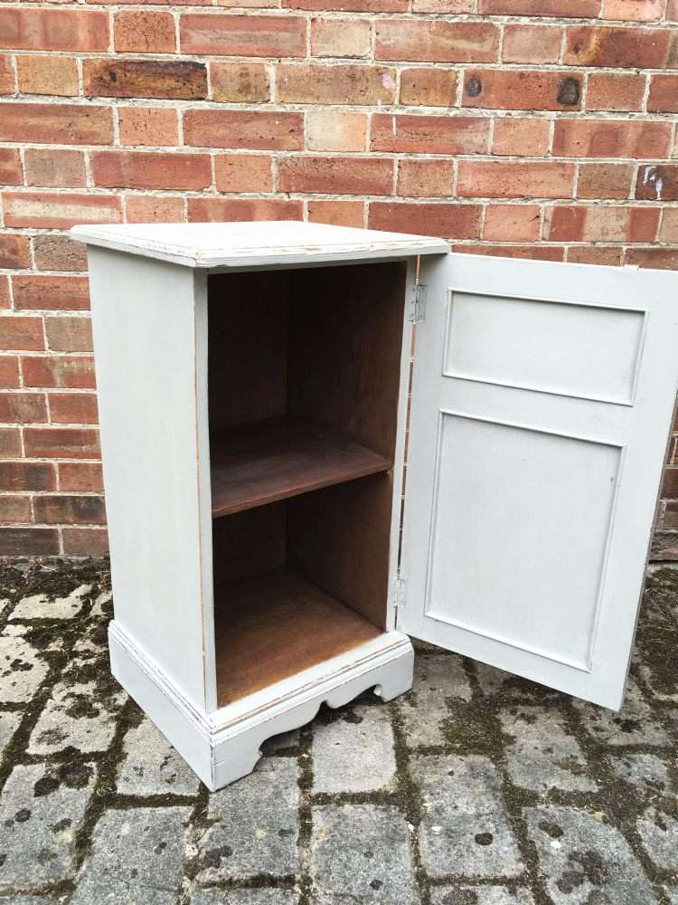 Victorian Painted Ash Bedside Cupboard2