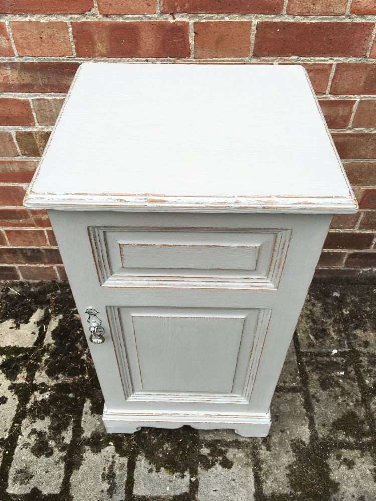Victorian Painted Ash Bedside Cupboard3