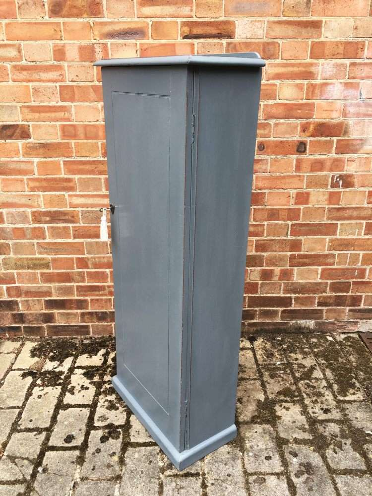 Mid Victorian Painted Mahogany Narrow Cupboard2
