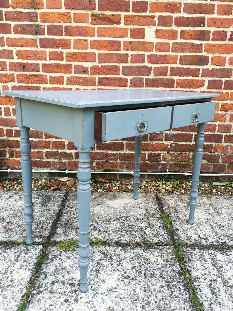 Mid Victorian Painted Ash Writing Table1