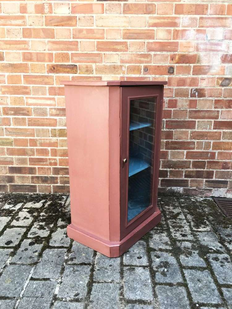 Late Victorian Painted Walnut Music Cabinet1