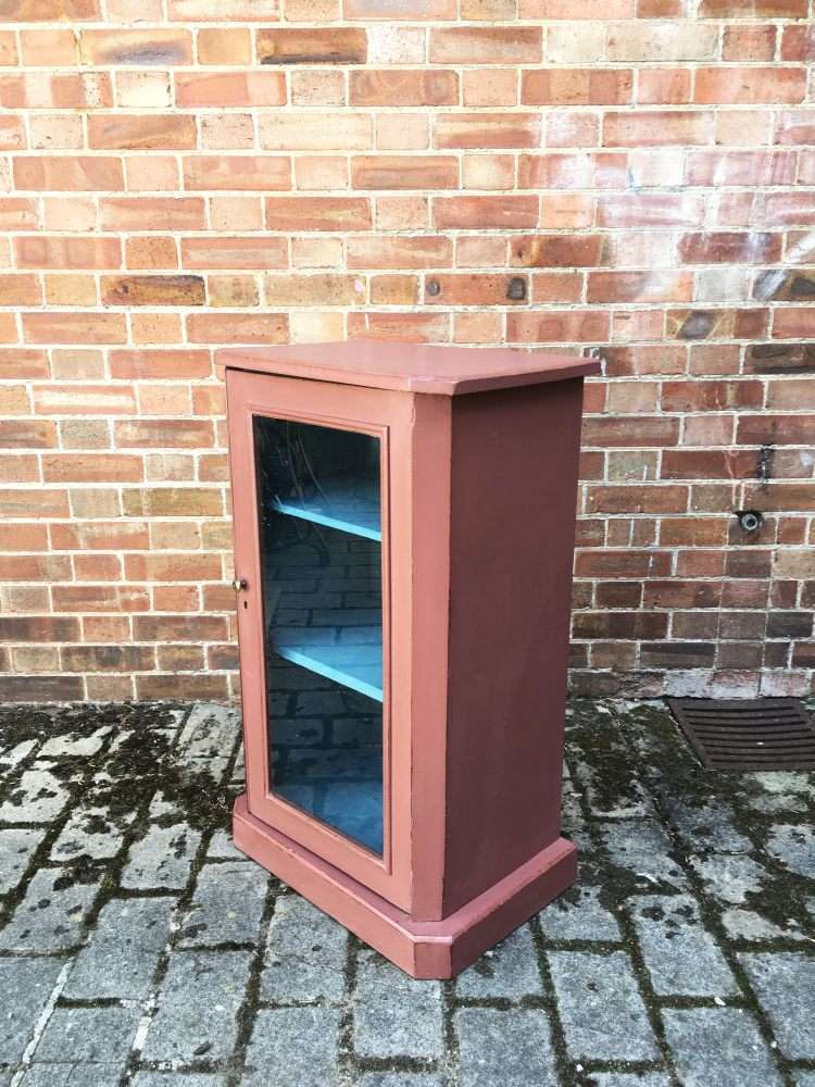 Late Victorian Painted Walnut Music Cabinet2