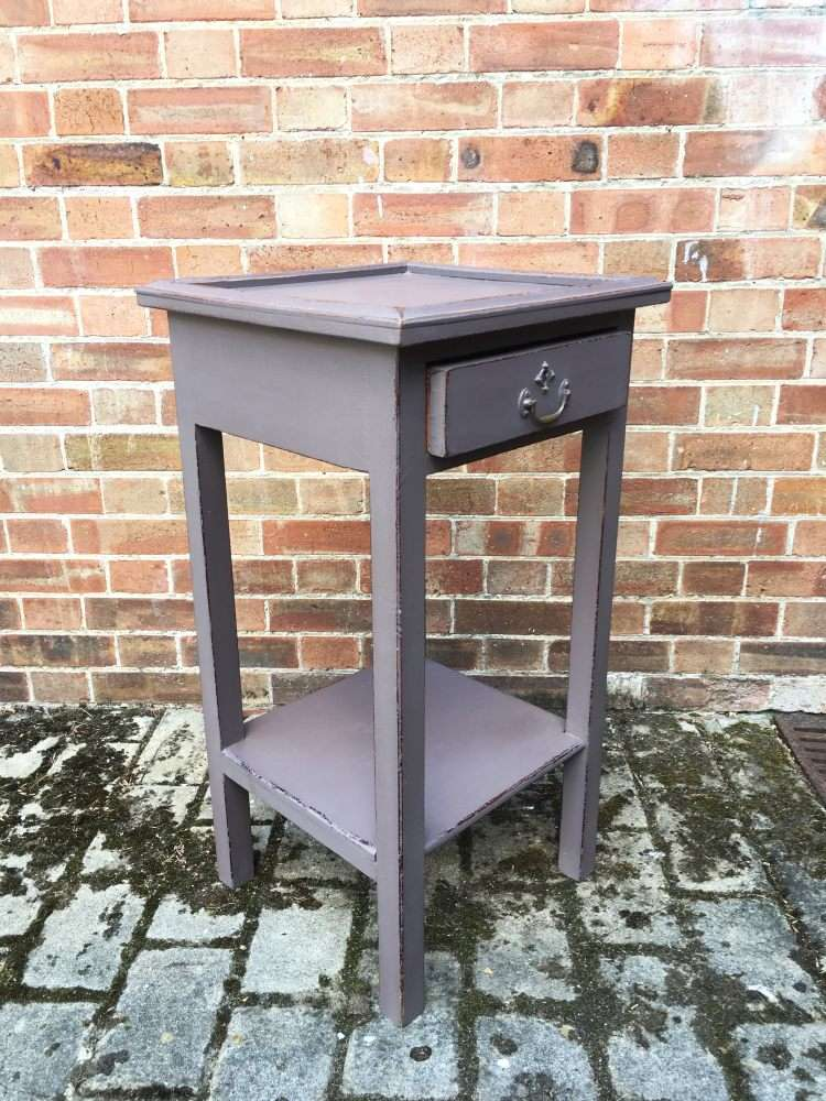 Edwardian Painted Pine lamp Table1