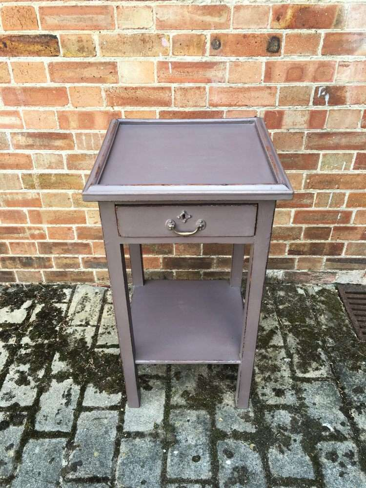 Edwardian Painted Pine lamp Table3