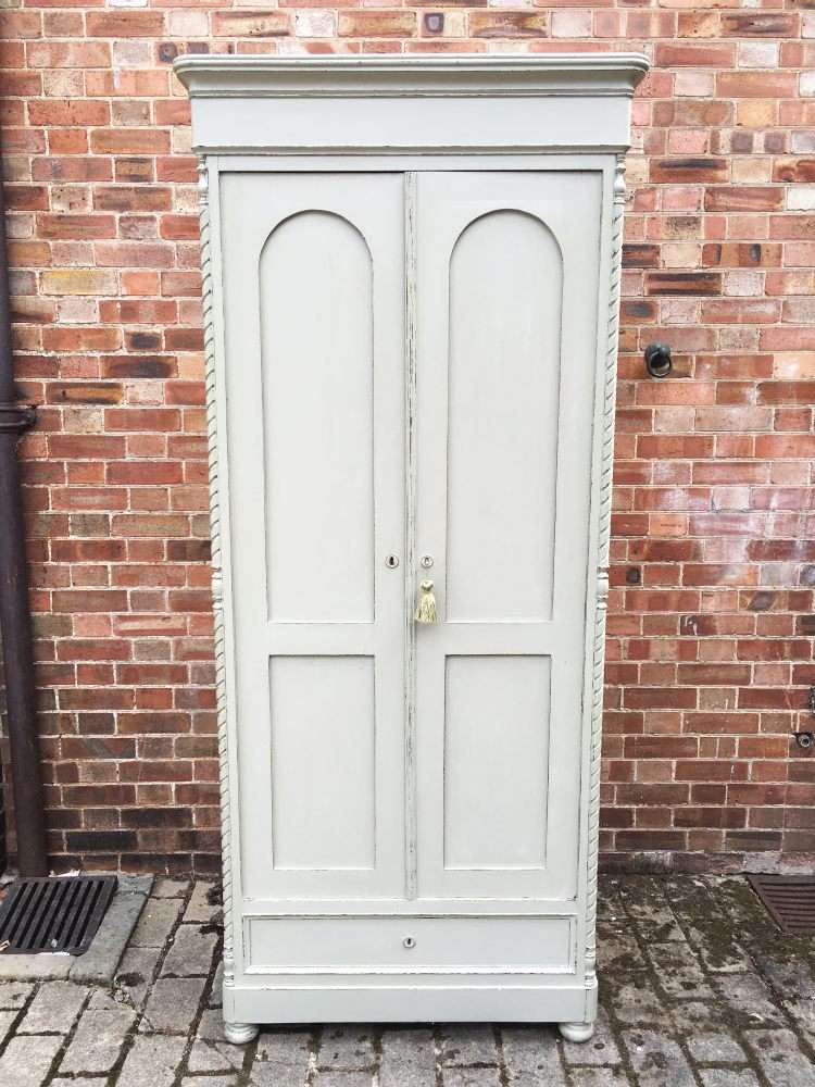 Victorian Painted Pine French Wardrobe SOLD- Ref:1186