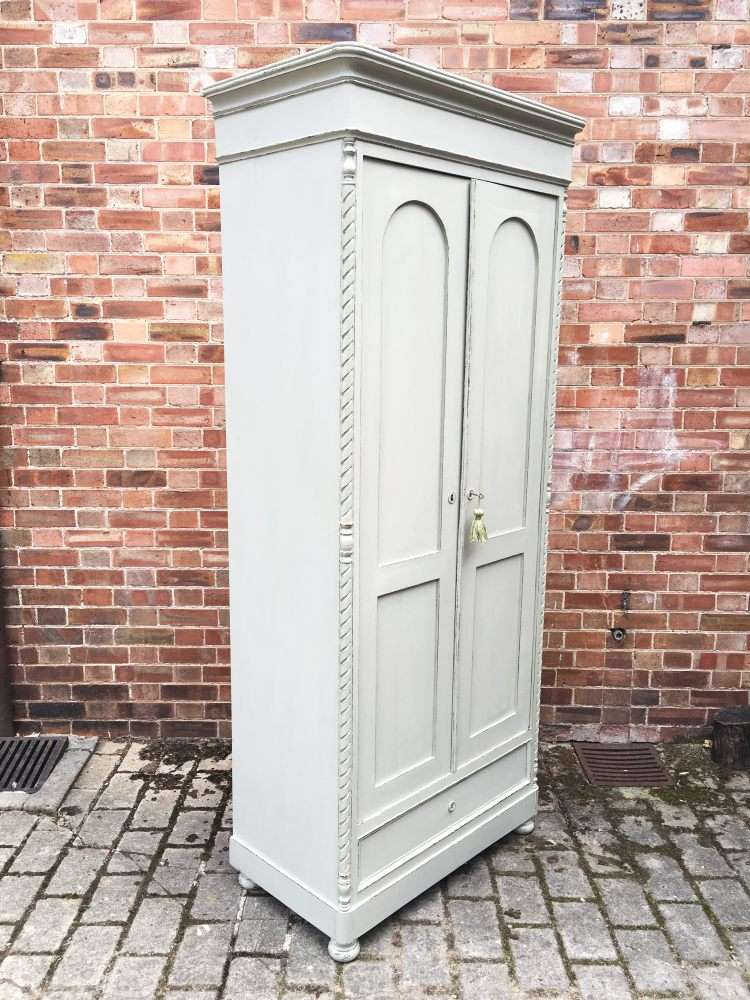 Victorian Painted Pine French Wardrobe1