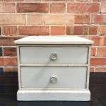 Edwardian Painted Pine 2 Drawer Table Cabinet SOLD- Ref:1187