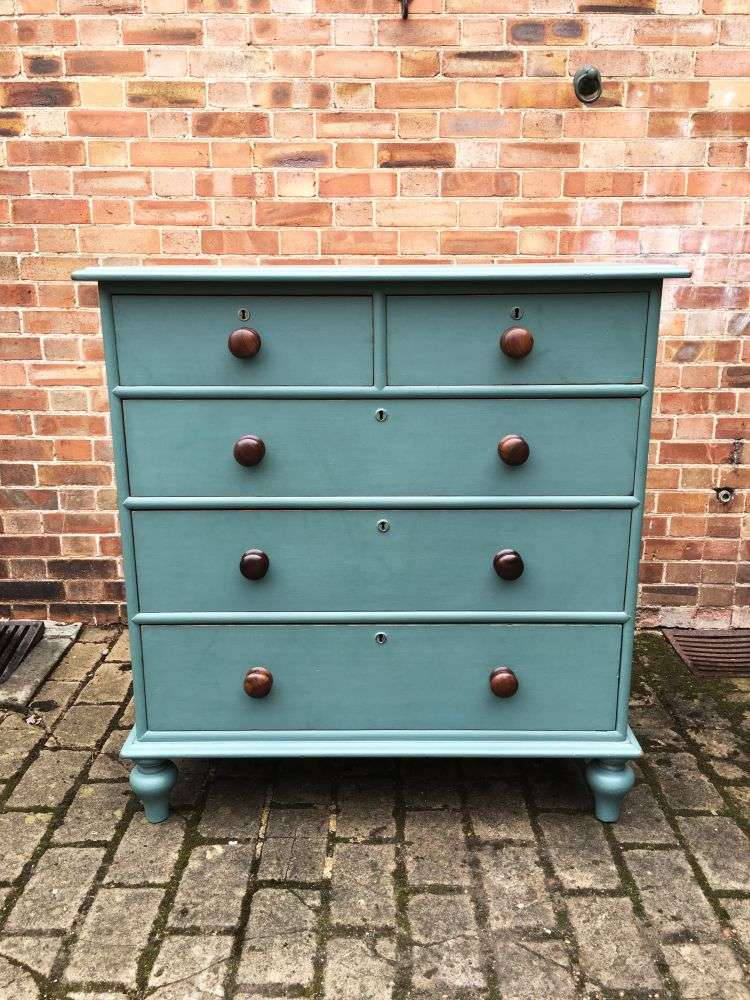 Victorian Painted Pitch Pine North Country Chest SOLD- Ref:1189