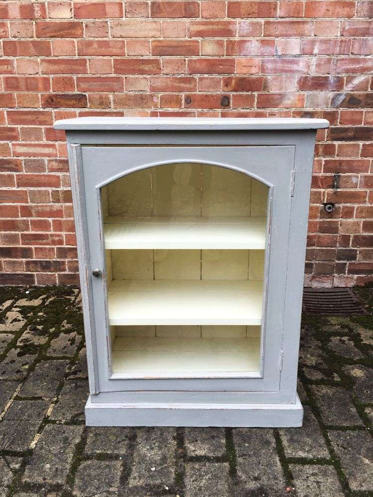 1930's Painted Pine Small Glazed Cabinet -SOLD Ref:1190