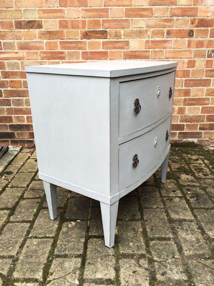 Regency Painted Mahogany French 2 Drawer Chest1