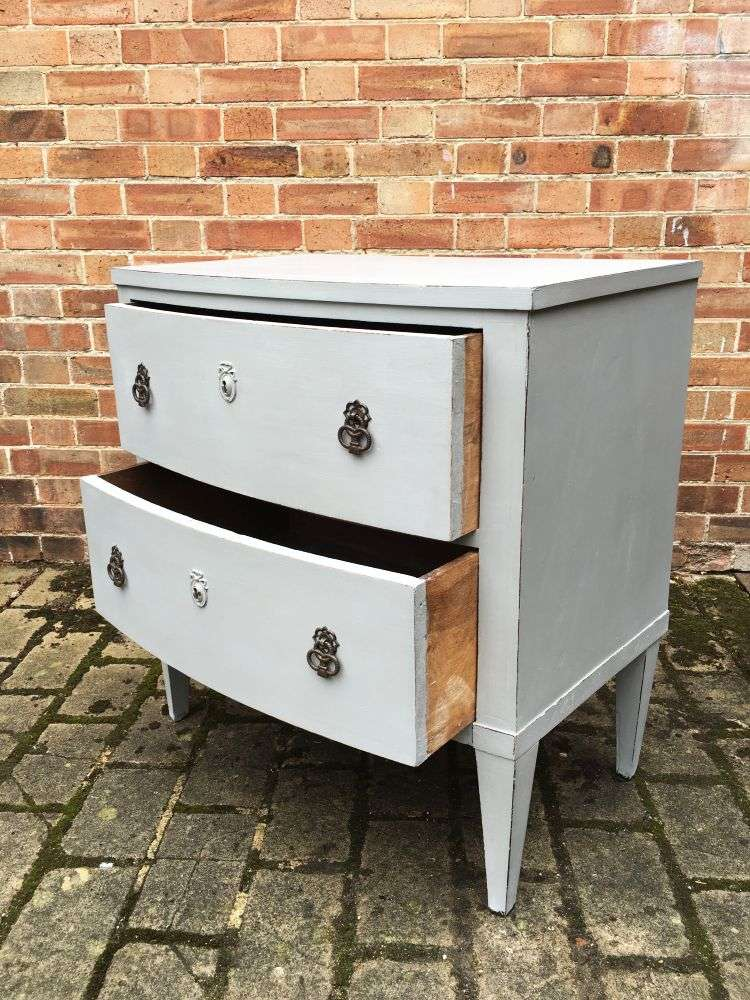 Regency Painted Mahogany French 2 Drawer Chest2